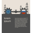 Russia and European Union flags on gears vector image vector image