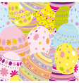 Seamless easter eggs background vector image vector image