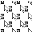 Seamless pattern of pixelated graphics cursor vector image vector image