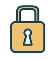 security lock closed vector image vector image