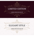 set vintage frames for luxury logos vector image vector image