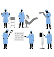 six doctors set vector image vector image