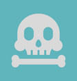 skull and bone icon flat design vector image