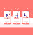 snow and ice removal after blizzard mobile app vector image vector image
