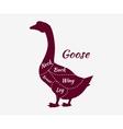 Typographic Goose Butcher Cuts Diagram vector image vector image