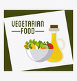 vegetarian food vector image vector image