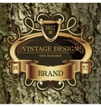 Vintage Lable frame for Business Identity vector image