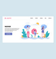 web site gradient design template happy vector image vector image