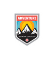 adventure outdoors - concept badge mountain vector image vector image