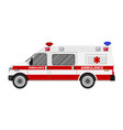 ambulance car emergency vehicle vector image