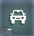 Auto icon symbol on the blue-green abstract vector image