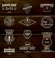 Barbershop badges logos and labels for any use vector image