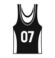 basketball vest icon simple style vector image