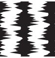 Black and white abstract glitch pattern vector image vector image