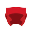 boxing helmet red boxer mask isolated spor vector image
