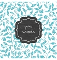 chalk leaves blackboard frame seamless pattern vector image