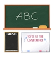 Chalkboards Set Isolated on White Background vector image vector image