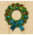 Christmas and New Year wreath Green branch of fir