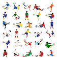 collection soccer players vector image vector image