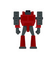 computer robot transformer icon flat isolated vector image vector image