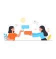 concept online communication vector image