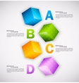 Cubes design Infographic vector image