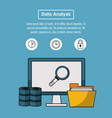 data analysis infographic vector image vector image