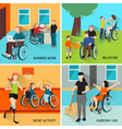 Disabled People Icons Set vector image vector image