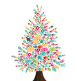 Diversity Christmas Tree hands isolated vector image vector image