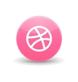 Dribbble icon simple style vector image vector image