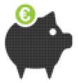 euro piggy bank halftone icon vector image vector image