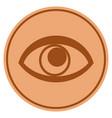 eye bronze coin vector image vector image