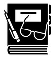 finance book icon simple style vector image