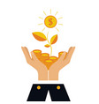 finance concept investing money coins in vector image
