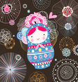 Flower doll vector image vector image
