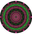 green and purple vintage round pattern vector image vector image