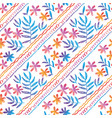 hand drawn seamless pattern with tropical flowers vector image vector image