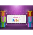 Happy Birthday Banner Abstract Design vector image