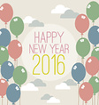 Happy New Year 2016 Vintage Style vector image