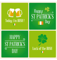 Happy St Patricks day card design elements vector image vector image