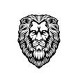 head lion silhouette clipart vector image