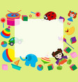 horizontal frame border with colorful toys in vector image vector image