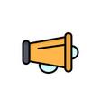 megaphone announce marketing speaker flat color vector image