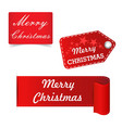 merry christmas red sticker badge vector image vector image