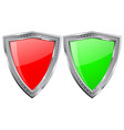 metal shield with shiny glass plate vector image
