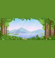 mountain landscape with summer forest vector image