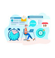 office worker online vector image