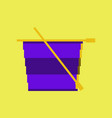 pixel icon in flat style tea cup vector image vector image