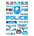 police and justice logotypes set vector image vector image