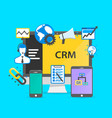 programming crm icon set collage vector image vector image